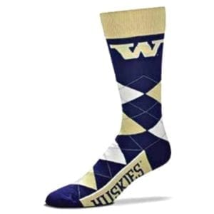 Washington Huskies Merchandise - Argyle Socks
