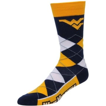 West Virginia Mountaineers Merchandise - Argyle Socks