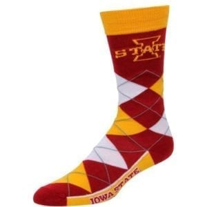 Iowa State Cyclones Merchandise - Argyle Socks