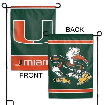 Miami Hurricanes Merchandise - Garden Flag