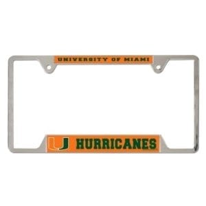 Miami Hurricanes Merchandise - License Plate Frame