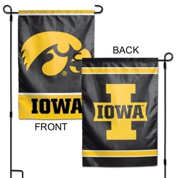 Iowa Hawkeyes Merchandise - Garden Flag