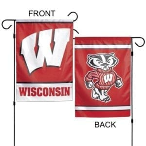 Wisconsin Badgers Merchandise - Garden Flag