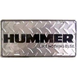 Hummer Merchandise - License Plate