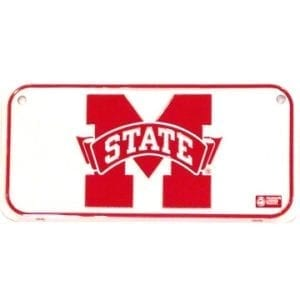 Mississippi State Bulldogs Merchandise - Bicycle License Plate