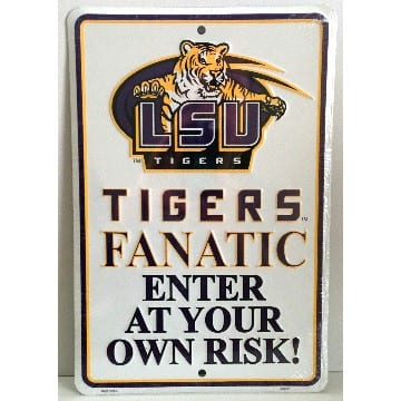 Parking Sign - LSU Tigers Merchandise