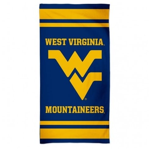 West Virginia Mountaineers Merchandise - Striped Beach Towel