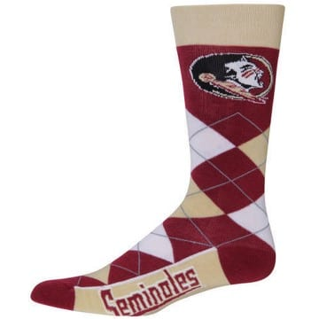 Socks - Argyle - Florida State