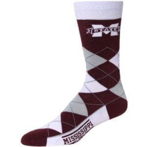 Mississippi State Bulldogs Merchandise - Argyle Socks
