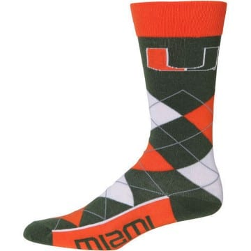 Miami Hurricanes Merchandise - Argyle Socks