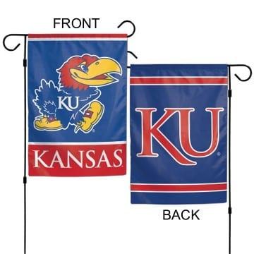 Garden Flag - Deluxe - Kansas Jayhawks Merchandise