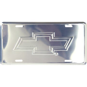 Chevy Chrome License Plate