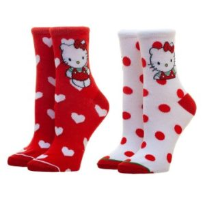 Hello Kitty Merchandise - Two Pack Socks