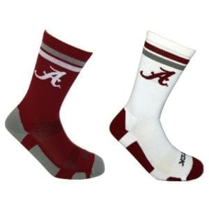 Alabama Crimson Tide Home and Away Socks