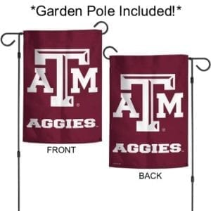 Texas A&M Aggies Merchandise - Garden Flag with Pole