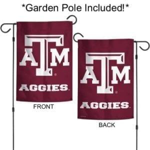 Texas ATM Garden Flag with Pole