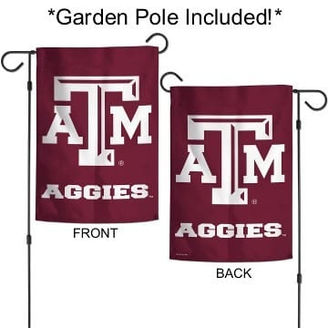 Texas ATM Garden Flag with Pole