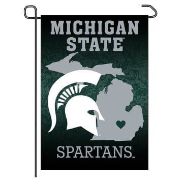 Garden Flag - Home State - Michigan State Spartans Merchandise