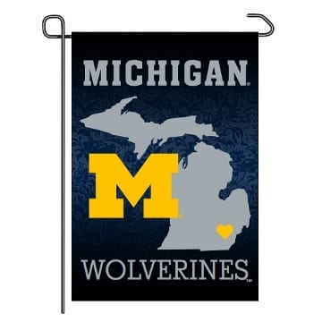 Garden Flag - Home State - Michigan Wolverines Merchandise
