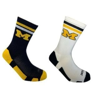 Michigan Wolverines Merchandise - Home and Away Socks