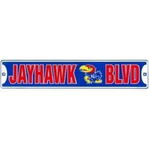 Kansas Jayhawks Merchandise - Street Sign
