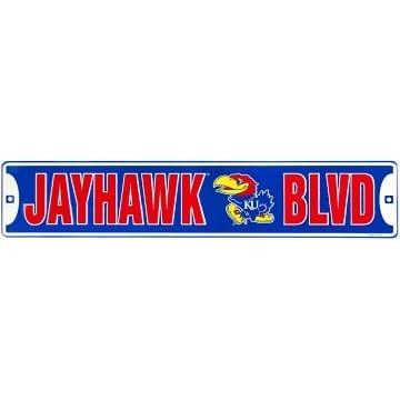 Kansas Jayhawks Merchandise - Street Sign