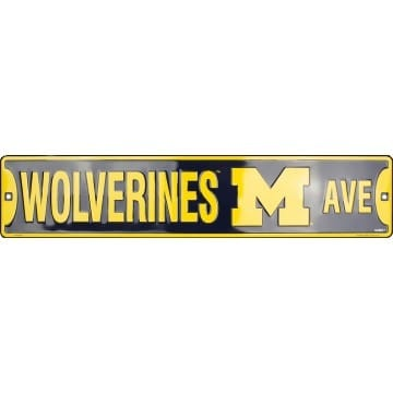 Michigan Wolverines Merchandise - Street Sign