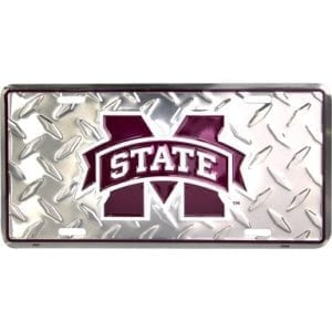Mississippi State Bulldogs Merchandise - Diamond License Plate