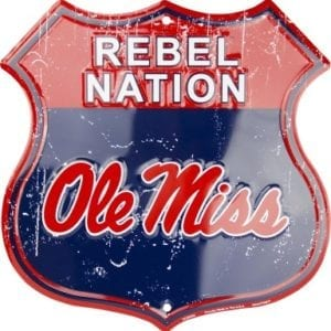 Ole Miss Rebels Merchandise - Shield Sign