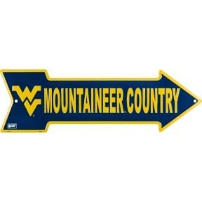 West Virginia Mountaineers Arrow Sign