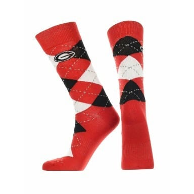 Georgia Bulldogs Merchandise - Argyle Socks