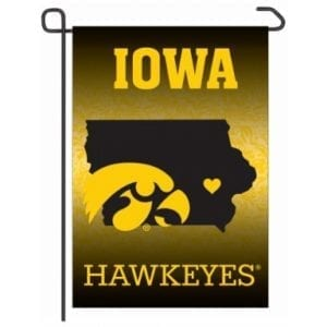 Iowa Hawkeyes Merchandise - Home State Garden Flag