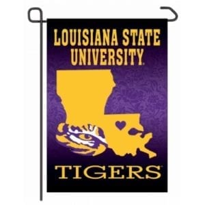 LSU Tigers Merchandise - Home State Garden Flag