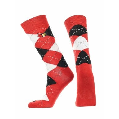 Louisville Cardinals Merchandise - Argyle Socks