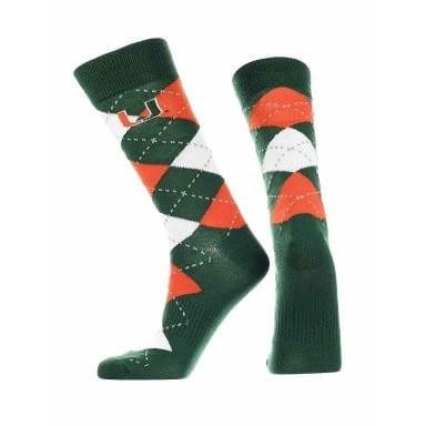 Miami Hurricanes Merchandise - Argyle Socks