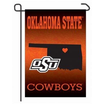 Oklahoma State Cowboys Home State Garden Flag