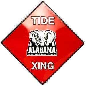 Alabama Crimson Tide Merchandise - Crossing Sign