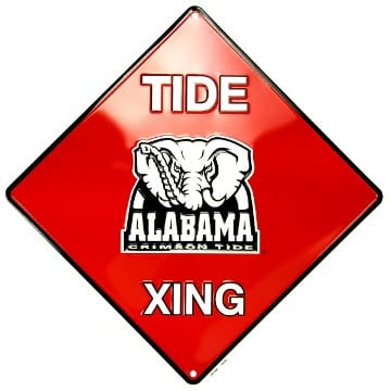 Alabama Crimson Tide Merchandise - Crossing Sign
