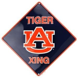Auburn Tigers Merchandise - Crossing Sign
