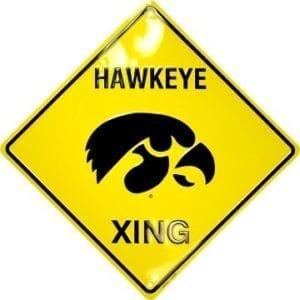 Iowa Hawkeyes Merchandise - Crossing Sign