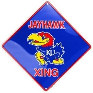 Kansas Jayhawks Merchandise - Crossing Sign
