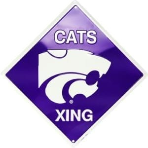 Kansas State Wildcats Merchandise - Crossing Sign