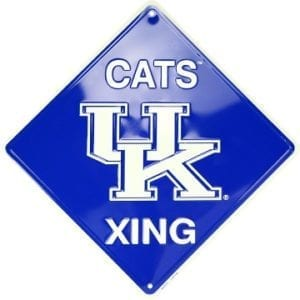 Kentucky Wildcats Merchandise - Crossing Sign