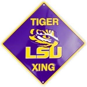 LSU Tigers Merchandise - Crossing Sign