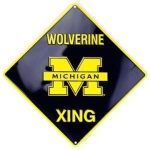Michigan Wolverines Merchandise - Crossing Sign