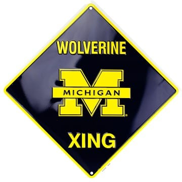 Michigan Wolverines Merchandise - Crossing Sign