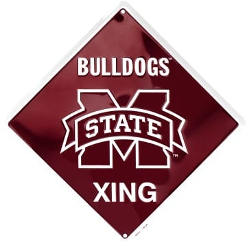 Mississippi State Bulldogs Merchandise - Crossing Sign