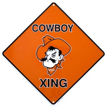 Oklahoma State Cowboys Merchandise - Crossing Sign