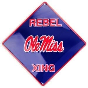 Ole Miss Rebels Merchandise - Crossing Sign