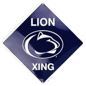 Penn State Nittany Lions Merchandise - Crossing Sign